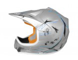 Xtreme Motocross Helmet - Silver Matt - Sizes: S M L