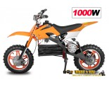 "Apollo 1000W / 36V Electric Dirt Bike - 3 Level Speed Control - 10"" Wheels - 3x12V Batteries"