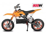 "Apollo 800W / 36V Electric Dirt Bike - 3 Level Speed Control - 10"" Wheels - 3x12V Batteries"
