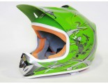 Xtreme Motocross Helmet - Green - Sizes: S M L