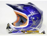 Xtreme Motocross Helmet - Blue - Sizes: S M L