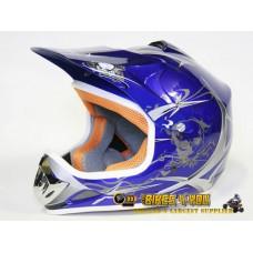 Xtreme Motocross Helmet - Blue - Sizes: S M L