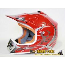 Xtreme Motocross Helmet - Red - Sizes: S M L