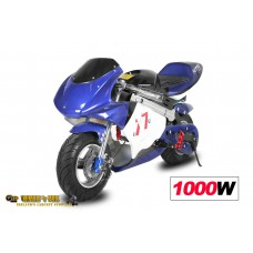 Mini Moto Electric 1000W / 36V - 3 Level Speed Control - Disc Brakes - 3x12V Batteries