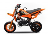 "Nitro Mini Dirt Bike 50cc - Automatic - Disc Brakes - Kill Switch - 7"" Wheels - Twin Exhaust"