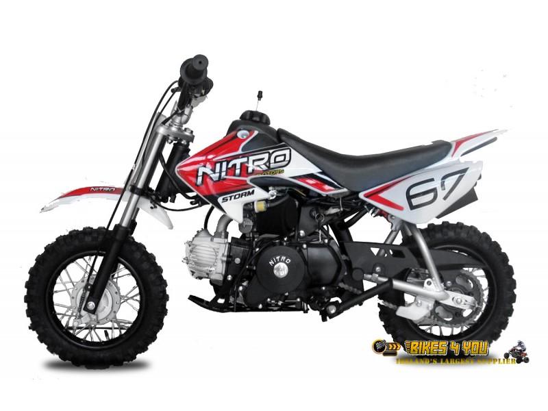 V2 90cc Dirt Bike 4 Stroke Automatic Electric Start Drum